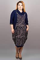 Платье больших размеров из микромасла, р.54,56,58,60,62,64