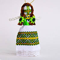 Кукла-мотанка зеленая средняя