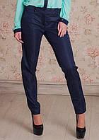 Классические брюки зауженные к низу из ткани коттон-мемори