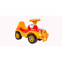 Каталка-толокар детская машинка Джипик Орион 105 желто-красная