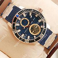 Модные наручные часы Ulysse Nardin Gold/Blue 2302