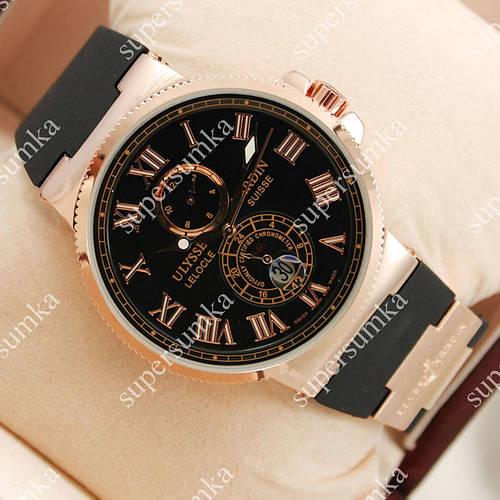 Популярные наручные часы Ulysse Nardin Maxi Marine Gold/Black 2303