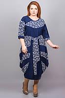 Платье очень больших размеров из микромасла, р.54,56,58,60,62,64