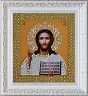 P-207 Набор для вышивания бисером Икона Христа Спасителя. Венчальная пара (золото)