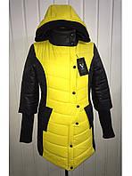 Куртка женская демисезонная удлиненная (желтая)