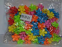 Крабики цветочек каучуковые цветные маленькие