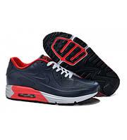 Nike Air Max Lunar 90  синие / мужские кроссовки / кожаные / весна-осень