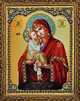 """P-187 Набор для вышивания бисером Икона Божией Матери """"Почаевская"""""""