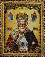 P-182 Набор для вышивания бисером Икона святителя Николая Чудотворца