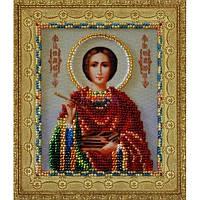 """P-114 Набор для вышивания бисером Миниатюрная икона """"Святой целитель Пантелеймон"""""""