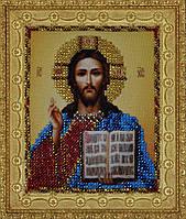"""P-110 Набор для вышивания бисером Миниатюрная """"Икона Христа Спасителя"""""""