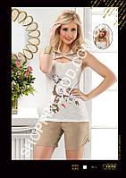 Женская пижама с капюшоном Anit 10096, костюм домашний с шортами