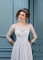Бесконечно нежное свадебное платье с рукавом три четверти и изысканной спинкой