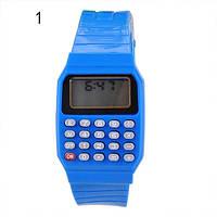 Детские наручные часы с калькулятором 1