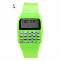 Детские наручные часы с калькулятором 5