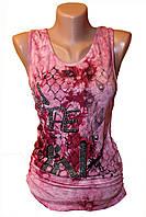 Модная женская майка. Розовая