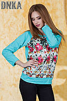 Женская модная кофта с цветами