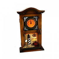 Ключница +часы маяк