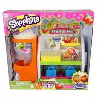 Игровой набор SHOPKINS S2 - ОВОЩНАЯ ЛАВКА (с аксессуарами, 2 эксклюзивных шопкинса, 2 сумочки)