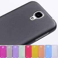 Мягкий ультратонкий (0,3 мм) пластиковый фиолетовый чехол для Samsung Galaxy S4