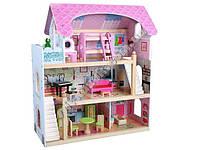 Деревянный дом для кукол с мебелью EduFun ZA0944