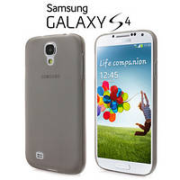 Мягкий ультратонкий (0,3 мм) пластиковый черный чехол для Samsung Galaxy S4