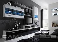 Мебельная стенка LOGO II белый / черный и белый глянец