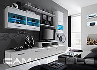 Мебельная стенка LOGO II белый / белый глянец