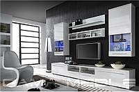 Мебельная стенка LUNA белый / белый глянец