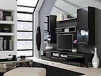 Мебельная стенка LUNA черный / черный глянец