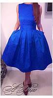 Нарядное платье с пышной юбкой жаккард размеры С-М М-Л