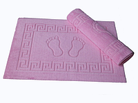 Коврик для ванной Varol 50*70 махровый прорезиненный розовый