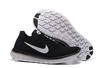 Кроссовки найки фри Nike free flyknit 5.0 2016 черн+бел