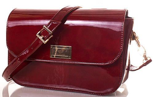 Блестящая женская сумка из экокожи Europe Mob, EM0039-10, красная