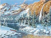 """Алмазная вышивка """"Река между гор"""""""