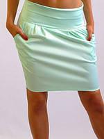 Модная летняя юбка офисного стиля со сборками на талии