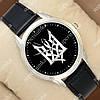 Необычные наручные часы Украина Трезубец Silver/Black 1053-0089