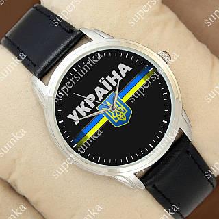 Элегантные наручные часы Украина Silver/Black 1053-0099