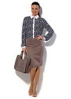 Отличная юбка прямого кроя в бежевом цвете от производителя