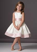 Праздничное платье детское из стрейч-атласа