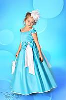 Сказочное платье детское из стрейч-атласа
