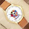 Яркие наручные часы Ukraine Gold/Brown 1053-0114