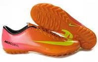 Футбольная обувь Nike Mercurial Vapor (найк) оранжевые