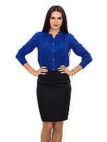 Стильная молодежная блуза с оригинальным вырезом на груди