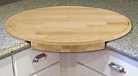 Угловая кухонная разделочная доска из ясеня 50х30х3 см