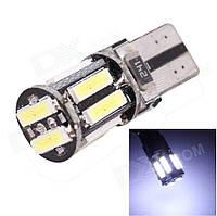 Светодиодная лампочка t10 w5w12v 10 smd 7014 canbus с резистором