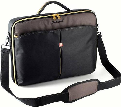 """Качественная сумка для ноутбука 15,6"""" - 16"""" Continent CC-02 Black Caviar черный"""