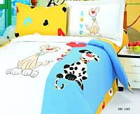 """Детское постельное бельё в кроватку  Le Vele сатин """"Dog love"""""""