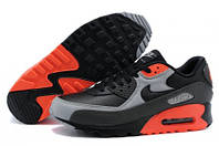 Мужские кроссовки Nike Air Max 90 Premium Black Ash Grey Total Crims