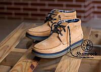 Ботинки мужские зимние кожа (на меху) Shamrock - Walter, yellow